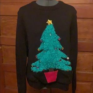 Oversized Light Up Christmas Tree Knit Sweater